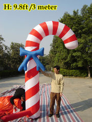 10'ft 3M Inflatable Advertising Promotion Giant Candy Cane Candy Stick